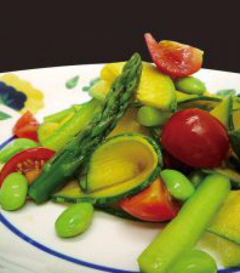 鈴かぼちゃの彩り夏野菜サラダ